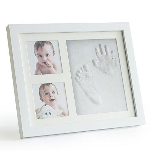 Premium Clay Baby Footprint Amp Handprint Picture Frame Kit