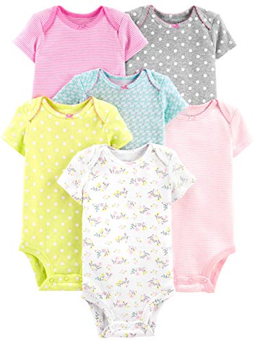 e0af1d3b6bb Simple Joys by Carter s Girls  6-Pack Short-Sleeve Bodysuit